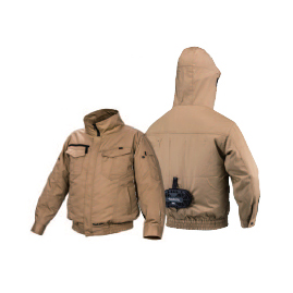 *マキタ/Makita* フード付モデル 替えジャケット ジャケットのみ ファン無し 綿+ポリエステル 充電式ファンジャケット用 [熱中症対策/扇風機付作業服] 【送料無料】