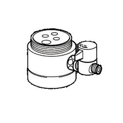 *ナニワ製作所*NSJ-SSA7 [デッキタイプ・シングルレバー] 湯水混合水栓用 分岐水栓