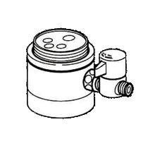 *ナニワ製作所*NSJ-SSB7 [デッキタイプ・シングルレバー] 湯水混合水栓用 分岐水栓