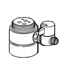 *ナニワ製作所*NSJ-SME7 [デッキタイプ・シングルレバー] 湯水混合水栓用 分岐水栓
