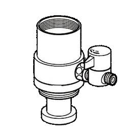 *ナニワ製作所*NSJ-SKD7 [デッキタイプ・シングルレバー] 湯水混合水栓用 分岐水栓