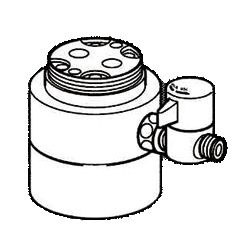 *ナニワ製作所*NSJ-SKE7 [デッキタイプ・シングルレバー] 湯水混合水栓用 分岐水栓