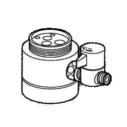 *ナニワ製作所*NSJ-SKF7 [デッキタイプ・シングルレバー] 湯水混合水栓用 分岐水栓