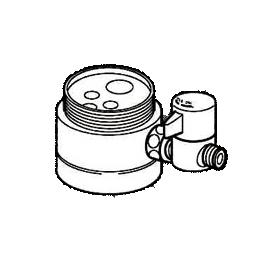 *ナニワ製作所*NSJ-SYA7 [デッキタイプ・シングルレバー] 湯水混合水栓用 分岐水栓