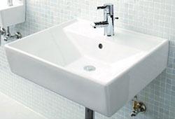 *ジャニス*L553CFBW1 手洗器 スクエアライン【送料無料】