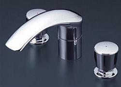 *KVK*KM71CU 水栓金具 バス用埋込2ハンドル混合栓 ナット接続 180mmパイプ