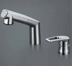 【3年保証付】*KVK*KM5271ZT 水栓金具 シングルレバー式洗髪シャワー 寒冷地仕様【代引不可】