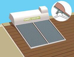 *長府製作所*KN-813 太陽熱温水器架台 簡易棟こし設置〈離島販売不可〉