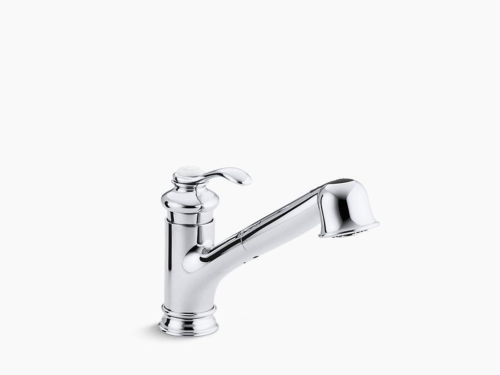 *Kohler*【正規輸入品/保証付】フェアファックス シングルレバー キッチン水栓 K-12177-CP ポリッシュドクローム〈送料無料〉
