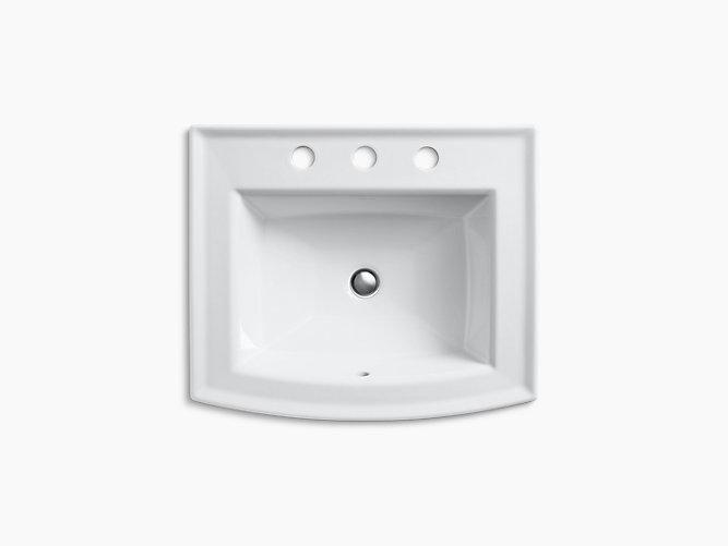 *Kohler*【正規輸入品/保証付】アーチャー ドロップイン 3HW 洗面シンク K-2356-8-0 ホワイト〈送料無料〉