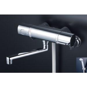*KVK水栓金具* FTB100KR3T 300mmパイプ付 サーモスタット式シャワー 浴室用水栓 eシャワー〈送料無料/代引不可〉
