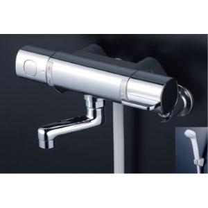 *KVK水栓金具* FTB100KR8T サーモスタット式シャワー 浴室用水栓 eシャワー〈送料・代引無料〉