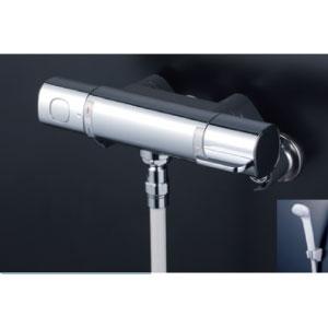 *KVK水栓金具* FTB100KSFT サーモスタット式シャワー(シャワー専用型) 浴室用水栓 eシャワー〈送料無料/代引不可〉