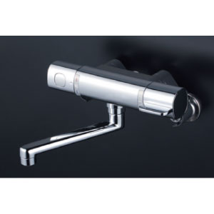 *KVK水栓金具* MTB100KWR2T 240mmパイプ付 サーモスタット式混合栓 浴室用水栓〈送料無料/代引不可〉