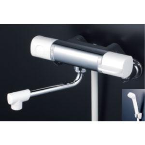 *KVK水栓金具* FTB100KR3 300mmパイプ付 サーモスタット式シャワー 浴室用水栓 eシャワー〈送料無料/代引不可〉