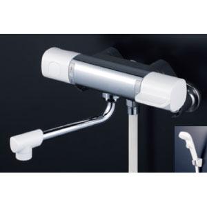 *KVK水栓金具* FTB100KPFR2 240mmパイプ付 サーモスタット式シャワー 浴室用水栓 eシャワー〈送料無料/代引不可〉
