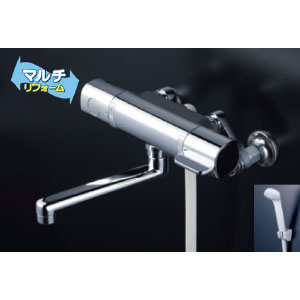 *KVK水栓金具* FTB100KRJT サーモスタット式シャワー 浴室用水栓 eシャワー マルチリフォーム〈送料無料/代引不可〉