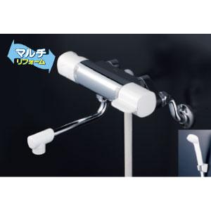 *KVK水栓金具* FTB100KWTKR2 240mmパイプ付 取替用サーモスタット式シャワー eシャワー マルチリフォーム〈送料無料/代引不可〉