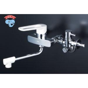 *KVK水栓金具* MSK110KZB シングルレバー式混合栓 キッチン用水栓 とめるぞう付〈送料無料/代引不可〉
