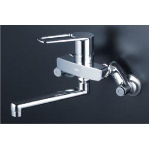 *KVK水栓金具* MSK110KZR2T 240mmパイプ付 シングルレバー式混合栓 キッチン用水栓〈送料無料/代引不可〉