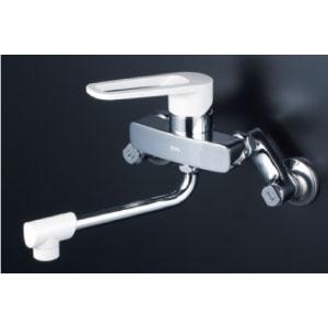 *KVK水栓金具* MSK110KR2 240mmパイプ付 シングルレバー式混合栓 キッチン用水栓〈送料無料/代引不可〉