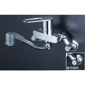 シャワー付シングルレバー混合栓 KVK水栓金具 MSK110KRFUT シングルレバー式シャワー付混合栓 代引不可〉 超定番 最新アイテム キッチン用水栓〈送料無料