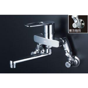 *KVK水栓金具* MSK110KEST シングルレバー式混合栓 キッチン用水栓〈送料無料/代引不可〉