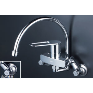 *KVK水栓金具* MSK110KRGT シングルレバー式混合栓 キッチン用水栓〈送料無料/代引不可〉