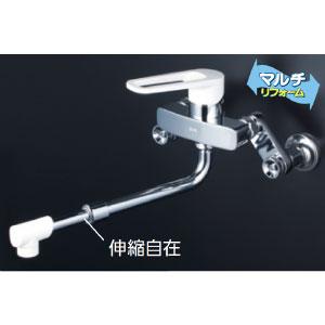 *KVK水栓金具* MSK110KRJRS シングルレバー式混合栓 キッチン用水栓 マルチリフォーム〈送料無料/代引不可〉