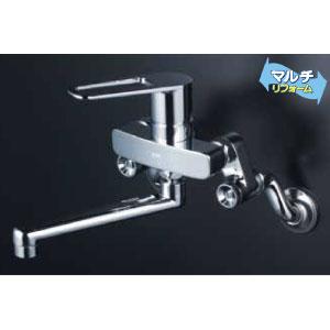*KVK水栓金具* MSK110KTKT 取替用シングルレバー式混合栓 キッチン用水栓 マルチリフォーム〈送料無料/代引不可〉