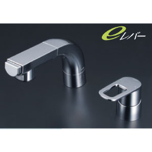 *KVK水栓金具* FSL120DZET シングルレバー式洗髪シャワー 洗面用水栓 eレバー〈送料無料/代引不可〉