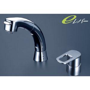 *KVK水栓金具* FSL121DET シングルレバー式洗髪シャワー 洗面用水栓 eレバー〈送料無料/代引不可〉