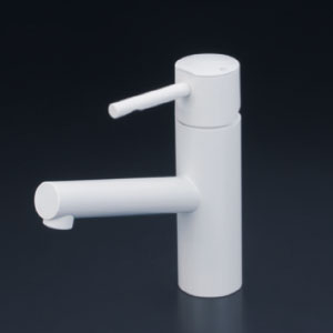*KVK水栓金具* KM7041M4 洗面用シングルレバー式混合栓 洗面用水栓 マットホワイト〈送料無料/代引不可〉
