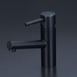 *KVK水栓金具* KM7041M5 洗面用シングルレバー式混合栓 洗面用水栓 マットブラック〈送料無料/代引不可〉