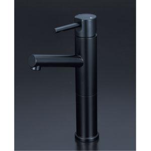 *KVK水栓金具* KM7041LM5 洗面用シングルレバー式混合栓ロングボディ 洗面用水栓 マットブラック〈送料無料/代引不可〉