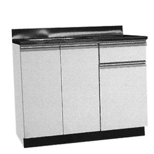 *メイコー*W-100 流し台 公団タイプ Wタイプ 間口100cm ホワイト 防臭排水大型ゴミ収納装置付