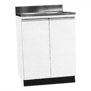 *メイコー*W-60 流し台 公団タイプ Wタイプ 間口60cm ホワイト 防臭排水大型ゴミ収納装置付