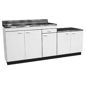 *メイコー*K-1800 流し台 公団タイプ 間口180cm 防臭排水中型ゴミ収納装置付