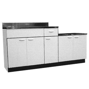 *メイコー*K-1700 流し台 公団タイプ 間口170cm 防臭排水中型ゴミ収納装置付