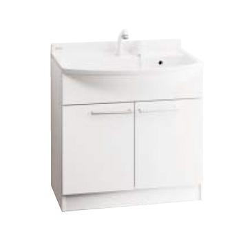 *パナソニック*GQM75KECW [MLINE] 洗面化粧台 本体キャビネットのみ[GQM75KSCW の後継品] 75cm シングルレバーシャワー混合水栓[エコカチット仕様]