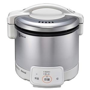 *リンナイ* RR-030VQ(W) グレイッシュホワイト ガス炊飯器 こがまる 電子ジャー付 [0.5~3合] 0.54L〈送料・代引無料〉