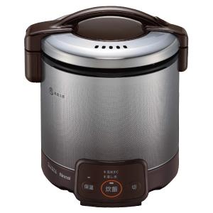 *リンナイ* RR-050VQ(DB) ダークブラウン ガス炊飯器 こがまる 電子ジャー付 [1~5合] 0.9L〈送料・代引無料〉