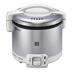 *リンナイ* RR-030FS(W) グレイッシュホワイト ガス炊飯器 こがまる [0.5~3合] 0.54L〈送料・代引無料〉