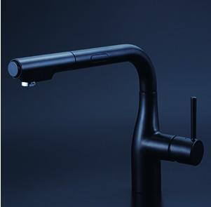 *KVK水栓金具*KM6111ECM5 シングルレバー式シャワー付混合栓 (センサー付)〈送料無料・代引不可〉