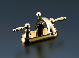 *INAX*洗面用水栓2ハンドル混合水栓 ポップアップ式LF-CF-31002/PVD