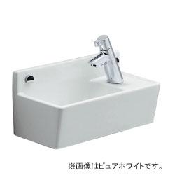 *ジャニス*LS353RSF[BW1/BN8] トイレカウンター コンパクトライン水栓セット 手洗器 床排水/壁給水【送料無料】