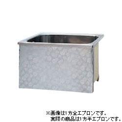"""楚々とした"""" なでしこ""""がさりげなく咲き誇る。 *JFE*KS80 ステンレス浴槽 KSシリーズ 1方半エプロン ストレート埋込タイプ[満水240L]"""