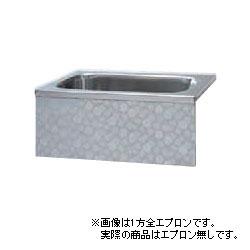 *JFE*KS120 ステンレス浴槽 KSシリーズ エプロンなし 背もたれ埋込タイプ[満水300L] [受注生産品]