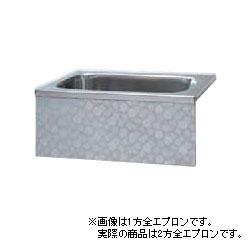*JFE*KS120TL ステンレス浴槽 KSシリーズ 2方全エプロン 背もたれ据置タイプ[満水218L] [受注生産品]