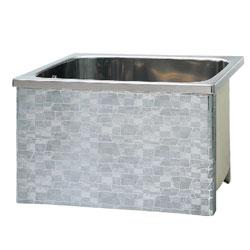*JFE*KSE80 ステンレス浴槽 KSEシリーズ 1方全エプロン ストレート据置タイプ[満水240L]